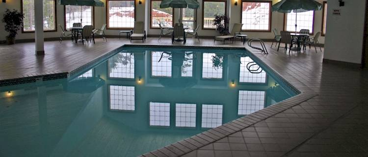 Just because it may be cold outside doesn't mean you can't enjoy our indoor heated pool.